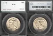 Us Coins - 1941d Walking Liberty Half Dollar SEGS MS63