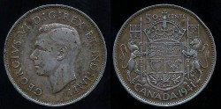 World Coins - 1941 Canada 50 Cents XF