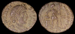 Ancient Coins - Valens Ae3 - GLORIA ROMANORVM - Constantinople Mint