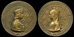 World Coins - 1499  France - Louis XII and Anne of Brittany by Jean Le Père, Nicolas Leclerc et Jean de Saint-Priest.