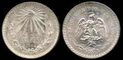 World Coins - 1944 M Mexico 1 Peso BU