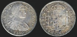 World Coins - 1809 Mo-TH Mexico 8 Reales AU
