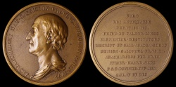 World Coins - 1795 France - Jean-Jacques Barthélemy, French Writer Archeologist and Numismatist by Pierre-Simon-Benjamin Duvivier
