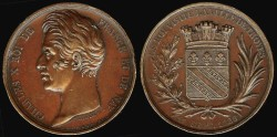 World Coins - 1828 France – Charles X Visit to the Ville de Troyes