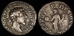 Ancient Coins - Marcus Aurelius Denarius - PROV DEOR TR P XV COS III - Rome Mint