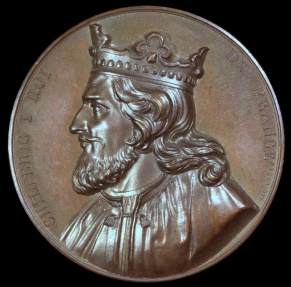 World Coins - 1840 France - Chilperic I, king of Neustria and the Franks (561-584) by Armand-Auguste Caqué for the