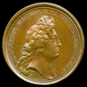 World Coins - 1680  France - King Louis XIV - The Port of Toulon by Jean Mauger