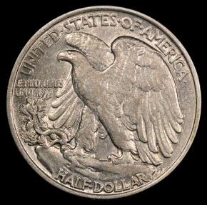 US Coins - 1946 P Walking Liberty Half Dollar AU
