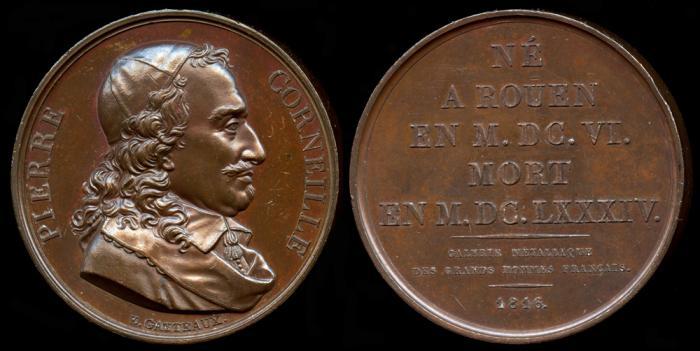 World Coins - 1816 France – Pierre Corneille by Jacques-Édouard Gatteaux