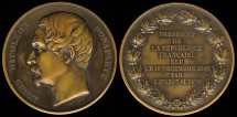 World Coins - 1850 France – Louis Napoleon Bonaparte Elected President of the French Republic