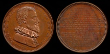 World Coins - 1620  Belgium - Simon Stevin, a Flemish mathematician, physicist and military engineer by Adolphe Christian Jouvenel