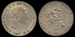 World Coins - 1820 LX Great Britain Crown - George III - UNC