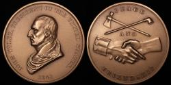 """Us Coins - 1841 John Tyler """"Indian Peace Medal"""" - Tenth President of the United States (April 6, 1841 to March 3, 1845) - Original US Mint Medal by Ferdinand Pettrich and John Reich"""