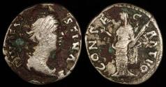 Ancient Coins - Faustina I Denarius - CONSECRATIO - Rome Mint