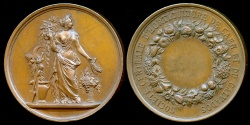 World Coins - 1870  France - Central Corporation of Horticulture of Caen in Calvados