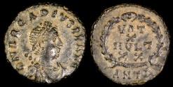 Ancient Coins - Arcadius Ae3 - VOT X MVLT XX - Antioch Mint