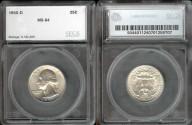 Us Coins - 1955d Washington Quarter SEGS MS64