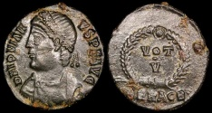 Ancient Coins - Jovian Ae3 - VOT V - Heraclea Mint