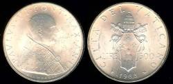 World Coins - 1963 Vatican 500 Lire BU