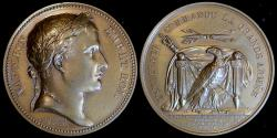 World Coins - 1805 France - Napoleon - Lifting of the Camp of Boulogne - Passage of the Rhine by Jean-Bertrand Andrieu, Nicolas Guy Antoine Brenet and Dominique-Vivant Denon