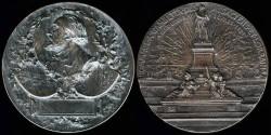 World Coins - 1891 France: Patriotic Award Medal
