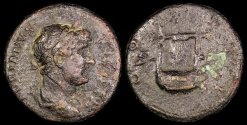 Ancient Coins - Hadrian As - COS III - Antioch Mint or Rome