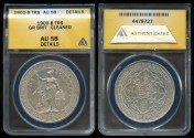 World Coins - 1900 B Great Britain Trade Dollar ANACS AU58