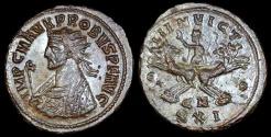 Ancient Coins - Probus Antoninianus - SOLI INVICTO - Cyzicus Mint