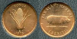 "World Coins - 1975 Tonga 1 Seniti ""FAO"" BU"