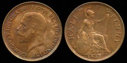World Coins - 1933 Great Britain 1/2 Penny BU