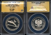 World Coins - 1980 MW Poland 200 Zlotych - Lake Placid Winter Olympics Silver Commemorative - Ski Jumper (No Torch) - ANACS PF68 Deep Cameo - Second Highest ANACS Graded!