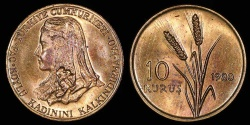 "World Coins - 1980 Turkey 10 Kurus - FAO ""Anatolian Bride"" Commemorative (only 12,500 pieces struck) - BU"