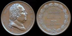 World Coins - 1822  France - Louis XVIII - Foundation of the Asian Society by Alexis Joseph Depaulis and Baron Jean-Pierre Casimir de Marcassus, Baron de Puymaurin