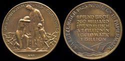 World Coins - 1923  Weimar Republic - Inflation 1st December 1923 - The Suffering of the German Nation