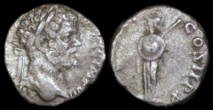 Ancient Coins - Septimius Severus Denarius - P M TR P II COS II P P - Rome Mint