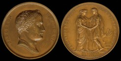 World Coins - 1807 France - Napoleon - Marriage of Jérôme Napoleon, King of Westphalia to Catharina of Wurrtemberg by Jean-Bertrand Andrieu