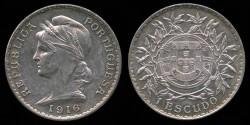 World Coins - 1916 Portugal 1 Escudo UNC