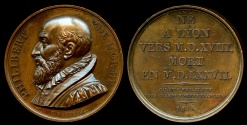 World Coins - 1819  France - Philibert de l'Orme, French architect, one of the great masters of the French Renaissance by Jacques-Édouard Gatteaux - Galerie Metallique des Grands Hommes Francais