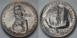 Us Coins - 1920 Pilgrim Commemorative Silver Half Dollar (Only 152,112 pieces were struck) BU
