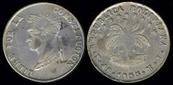 World Coins - 1855 MJ-PTS Bolivia 4 Soles AU; Silver