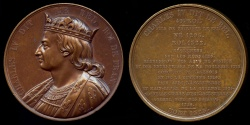 """World Coins - 1840 France - Charles IV (the Handsome) the last """"direct"""" Capetian King of France by Armand-Auguste Caqué for the Galerie Numismatique des rois de France #49"""