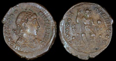 Ancient Coins - Theodosius I Ae3 - CONCORDIA AVGGG - Constantinople Mint