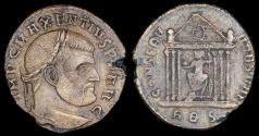 Ancient Coins - Maxentius Ae Follis - CONSERV VRB SVAE - Rome Mint