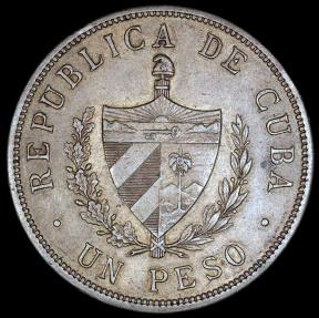 World Coins - 1916 Cuba 1 Peso -