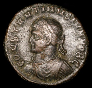Ancient Coins - Constantine II Ae3 - CAESARVM NOSTRORVM - Thessalonica Mint