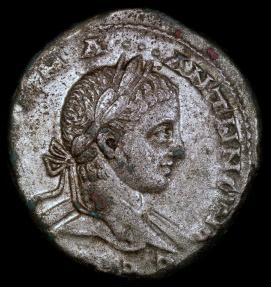 Ancient Coins - Elagabalus Tetradrachm - Eagle Standing - Antioch Mint