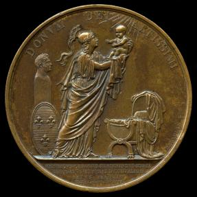 World Coins - 1820 France – Birth of the Miracle Child – Henri V By Jean-Bertrand Andrieu, Alexis Joseph Depaulis &  Baron Jean Pierre Casimir de Marcassus de Puymaurin