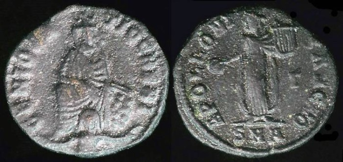 Ancient Coins - Maximinus II Ae4 - Anonymous Pagan Commemorative - Antioch Mint