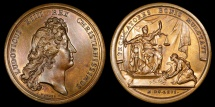 World Coins - 1666 France - Louis XIV - The Clemency of the King by Jean Mauger