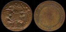 World Coins - 1889  France - Marseille School of Fine Arts Medal by Louis-Alexandre Bottée